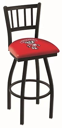 College Stool with Vert Back
