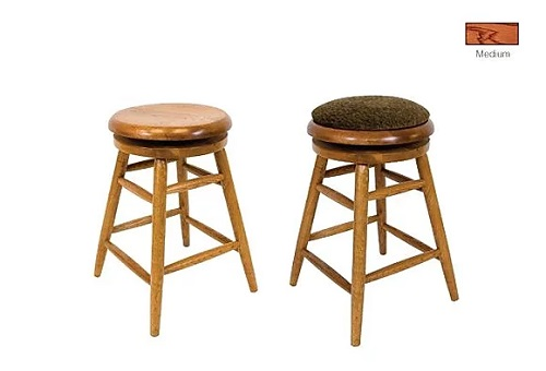 Wood Backless Swivel Bar Stool